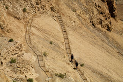 Βήματα Masada Στοκ Φωτογραφία