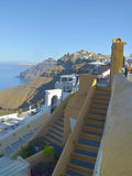 Βήματα Santorini Στοκ Εικόνες