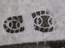 Βήμα στον πάγο Στοκ εικόνα με δικαίωμα ελεύθερης χρήσης