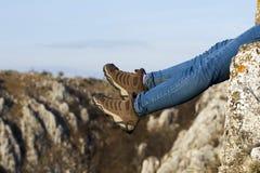 Βήμα στους βράχους Στοκ Εικόνα