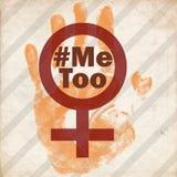 Βία στάσεων κατά του τρύού συμβόλων απομίμησης γυναικών grunge στοκ φωτογραφία με δικαίωμα ελεύθερης χρήσης