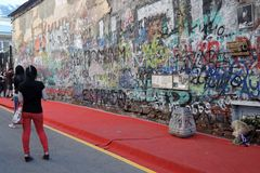 Βίκτωρ Tsoi Wall στη Μόσχα Στοκ εικόνες με δικαίωμα ελεύθερης χρήσης