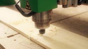Βίντεο εξοπλισμού άλεσης εργασίας ξύλινο κοντά επάνω απόθεμα βίντεο