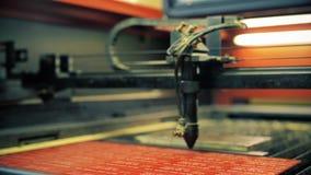 Βίντεο μηχανών εργασίας lazer graving απόθεμα βίντεο