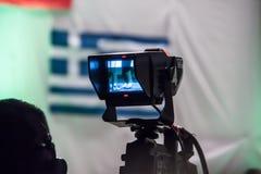 Βίντεο πυροβολισμού Camerman στο φεστιβάλ Στοκ φωτογραφία με δικαίωμα ελεύθερης χρήσης