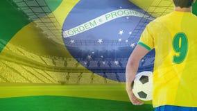 Βίντεο σημαιών της Βραζιλίας απόθεμα βίντεο
