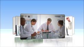 Βίντεο της εργασίας επιχειρηματιών απόθεμα βίντεο