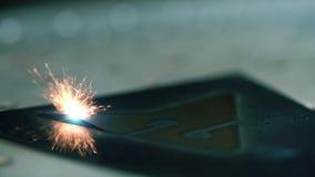 Βίντεο της λειτουργώντας lazer graving συσκευής απόθεμα βίντεο