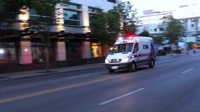 Βίντεο του ασθενοφόρου στο Σιάτλ απόθεμα βίντεο