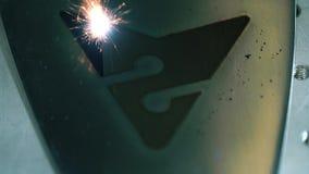 Βίντεο του λειτουργώντας lazer graving εργαλείου απόθεμα βίντεο