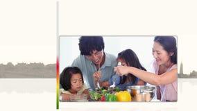 Βίντεο του οικογενειακού μαγειρέματος ελεύθερη απεικόνιση δικαιώματος