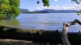 Βίντεο του ποταμού του Hudson κοιτάζω στο νοτιοδυτικό σημείο απόθεμα βίντεο
