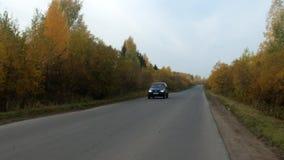 Βίντεο του δρόμου στη νεφελώδη ημέρα απόθεμα βίντεο