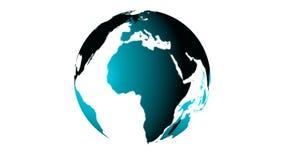 Βίντεο FullHD του πλανήτη Γη στο άσπρο υπόβαθρο διανυσματική απεικόνιση