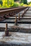 Βίδα σιδηροδρομικών γραμμών Στοκ φωτογραφίες με δικαίωμα ελεύθερης χρήσης