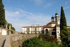 Βίλα Duodo και η εκκλησία των λειψάνων σε Monselice μέσω των λόφων στο Βένετο (Ιταλία) Στοκ Εικόνες