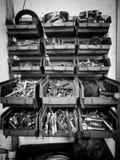 Βίδες στα κιβώτια Στοκ φωτογραφίες με δικαίωμα ελεύθερης χρήσης