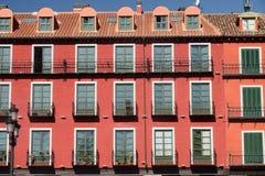 Βαγιαδολίδ Καστίλλη Υ Leon, Ισπανία: Δήμαρχος Plaza Στοκ φωτογραφία με δικαίωμα ελεύθερης χρήσης