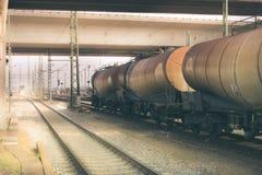 Βαγόνια εμπορευμάτων φορτίου Στοκ Εικόνα