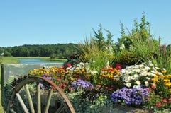 Βαγόνι εμπορευμάτων λουλουδιών Στοκ Φωτογραφίες