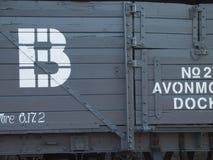 βαγόνι εμπορευμάτων τραίν&omeg Στοκ εικόνα με δικαίωμα ελεύθερης χρήσης