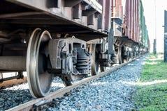 Βαγόνι εμπορευμάτων φορτίου σιδηροδρόμων Ναυτιλία με το τραίνο Στοκ εικόνα με δικαίωμα ελεύθερης χρήσης