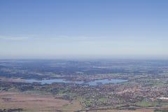 Βαθιά άποψη της λίμνης Staffel με Murnau στοκ φωτογραφίες με δικαίωμα ελεύθερης χρήσης