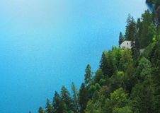 βαθιά δασική λίμνη Στοκ εικόνα με δικαίωμα ελεύθερης χρήσης