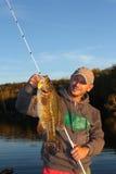 Βαθιά αλιεία ατόμων Στοκ φωτογραφίες με δικαίωμα ελεύθερης χρήσης