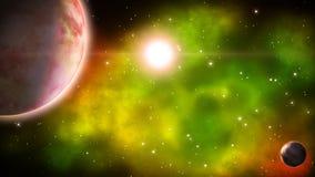 Βαθιά διαστημική σκηνή βρόχος απεικόνιση αποθεμάτων