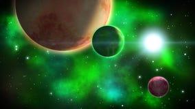 Βαθιά διαστημική σκηνή βρόχος ελεύθερη απεικόνιση δικαιώματος