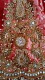 Βαθιά - κόκκινο Σάρι Στοκ Εικόνα