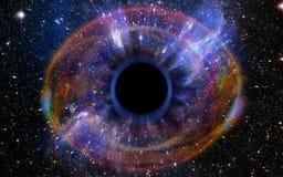 Βαθιά μαύρη τρύπα, όπως ένα μάτι στον ουρανό Στοκ Εικόνα