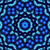 Βαθιά μπλε και λουλάκι arabesque ή mandala στοκ εικόνα