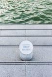 Βαθιά νερά προσοχής Στοκ φωτογραφία με δικαίωμα ελεύθερης χρήσης