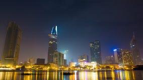 Βαθιά νύχτα στη πόλη Χο Τσι Μινχ Ύπνος 2 ουρανοξυστών φιλμ μικρού μήκους
