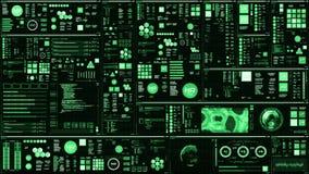 Βαθιά - πράσινη φουτουριστική διεπαφή/ψηφιακή οθόνη φιλμ μικρού μήκους