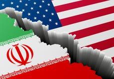 Βαθιά ρωγμή Ιράν ΗΠΑ απεικόνιση αποθεμάτων