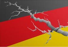 Βαθιά ρωγμή της Γερμανίας σημαιών απεικόνιση αποθεμάτων