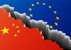 Βαθιά ρωγμή της Ευρώπης Κίνα ελεύθερη απεικόνιση δικαιώματος