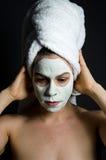 Βαθιά σκεπτόμενη μάσκα Στοκ φωτογραφία με δικαίωμα ελεύθερης χρήσης