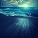Βαθιά ωκεάνια, θαλάσσια υπόβαθρα στοκ εικόνες