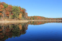 Βαθιές αντανακλάσεις το Νοέμβριο στη λίμνη Walden Το Νοέμβριο του 2015 Στοκ εικόνα με δικαίωμα ελεύθερης χρήσης