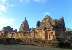 Βαθμίδα Hin Phanom Prasat, ο καλά συντηρημένος αρχαίος Khmer ναός στην Ταϊλάνδη Στοκ Εικόνες