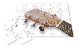 Βαθμιαία μαθαίνοντας να παίζει την κιθάρα - εικόνα έννοιας jigs στοκ εικόνα με δικαίωμα ελεύθερης χρήσης