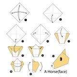 Βαθμιαία οδηγίες πώς να κάνει το άλογο origami Στοκ φωτογραφία με δικαίωμα ελεύθερης χρήσης
