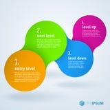 Βαθμιαία infographic πρότυπο παρουσίασης Στοκ φωτογραφίες με δικαίωμα ελεύθερης χρήσης