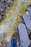 Βαθμιαίος δρόμος πετρών Στοκ Εικόνες
