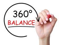 360 βαθμοί έννοιας ισορροπίας Στοκ Εικόνα