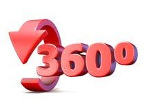 360 βαθμοί βλέπουν το κάθετο βέλος τρισδιάστατο Στοκ εικόνες με δικαίωμα ελεύθερης χρήσης